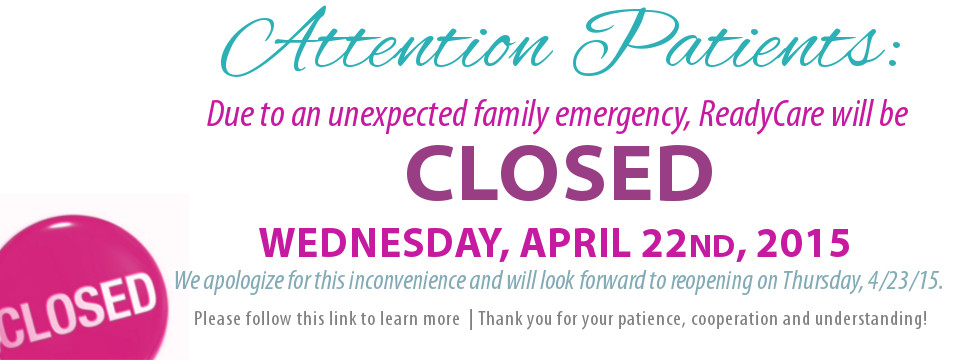 RC Closing April Family emergency web banner