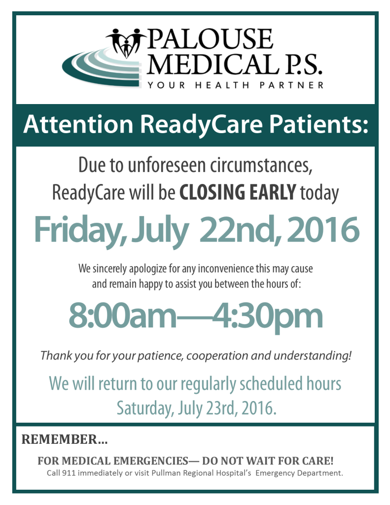 RC Closing Early Sign 2016 - July 22