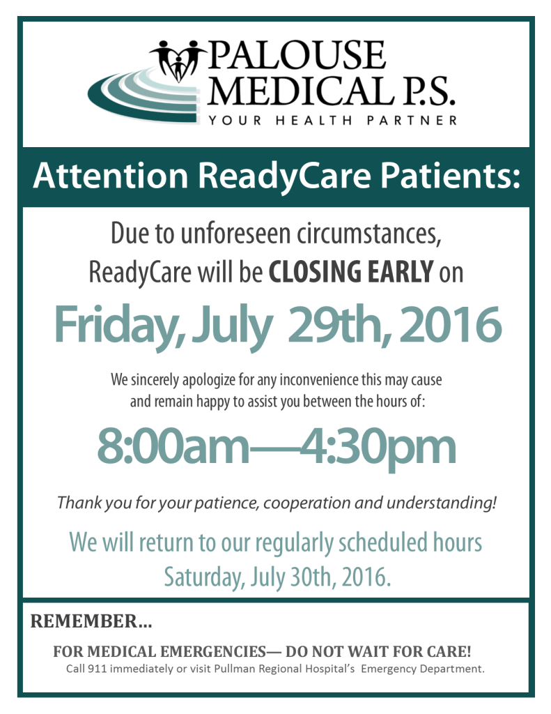 RC Closing Early Sign 2016 - July 29