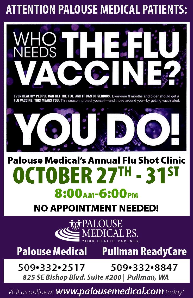 2014 October Flu Shot Clinic - Palouse Medical