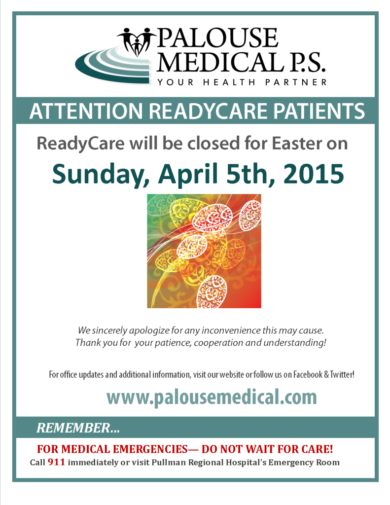 RC Closed Sign 2015 - Easter