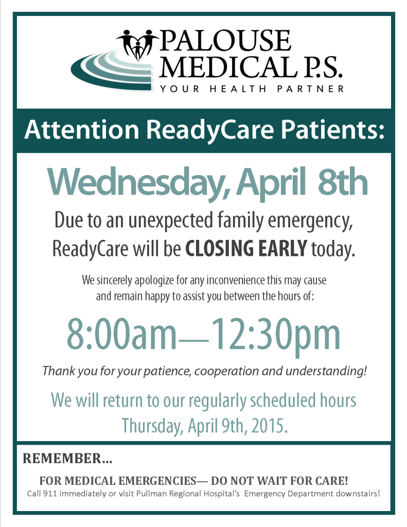RC Closing Early Sign 2015 - April 8