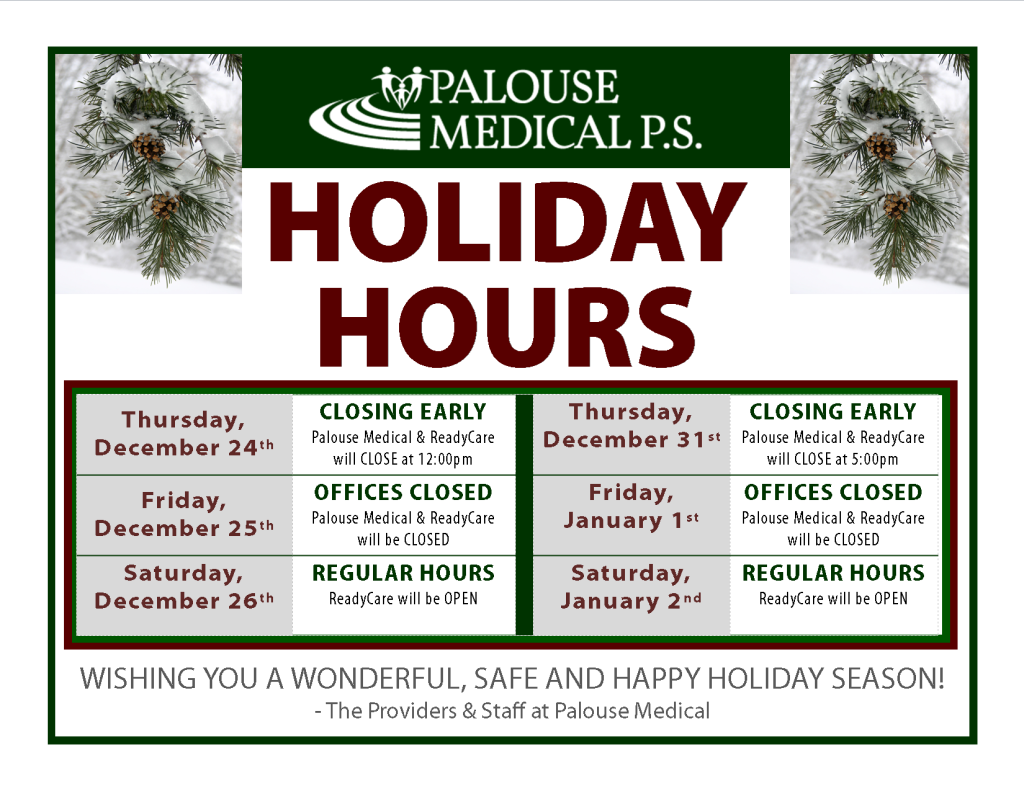 Winter Holiday Hours 2015-2016