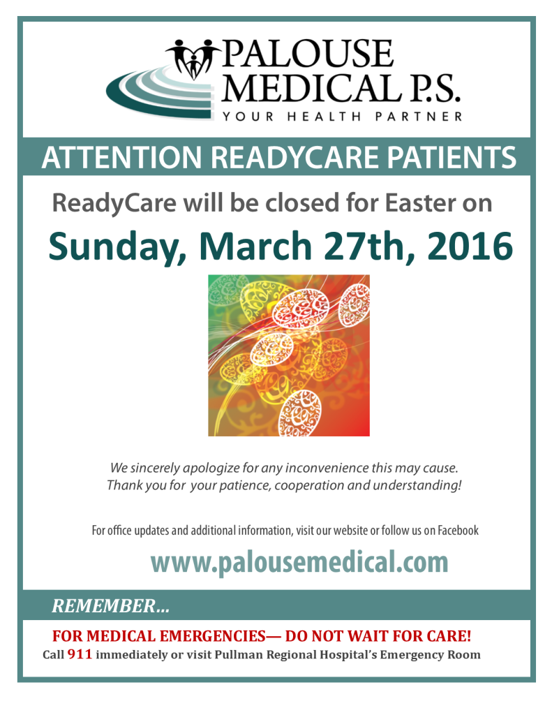 RC Closed Sign 2016 - Easter